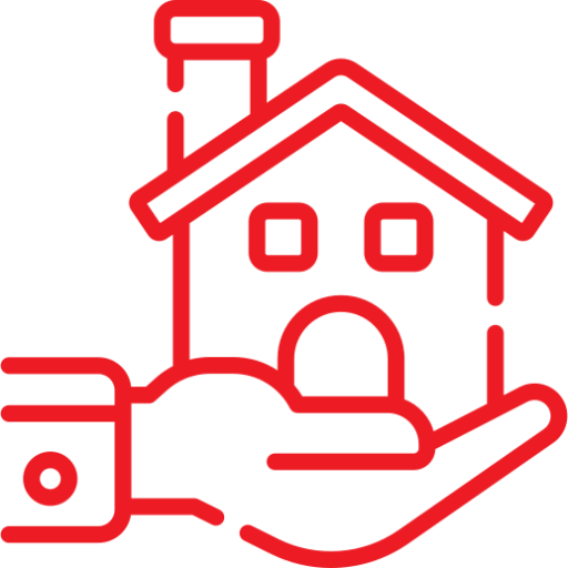 Seguro de hogar icono